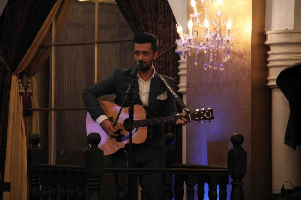 Atif Aslam performing live at the music launch